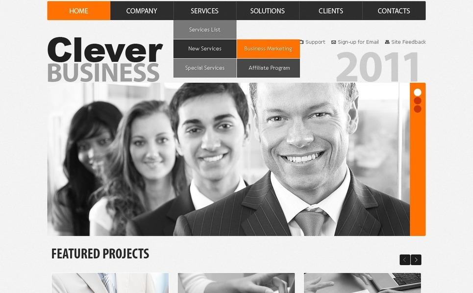 PSD шаблон №56355 на тему Бизнес и услуги New Screenshots BIG