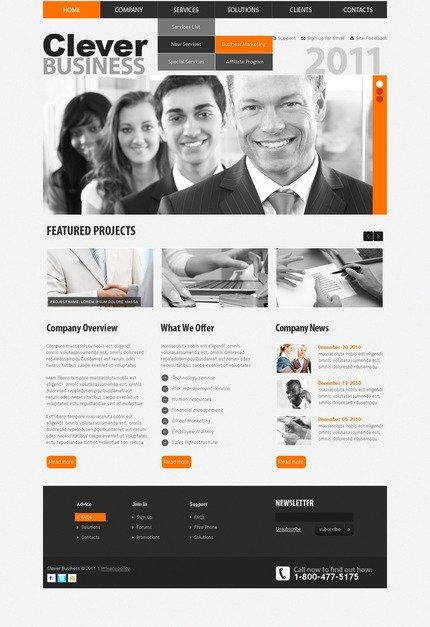 ADOBE Photoshop Template 56355 Home Page Screenshot