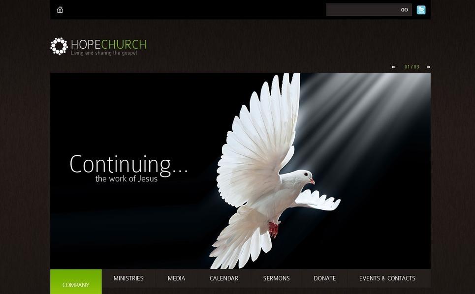 宗教信仰网站模版PSD模板 New Screenshots BIG