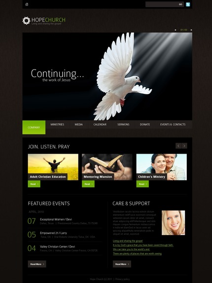ADOBE Photoshop Template 56356 Home Page Screenshot