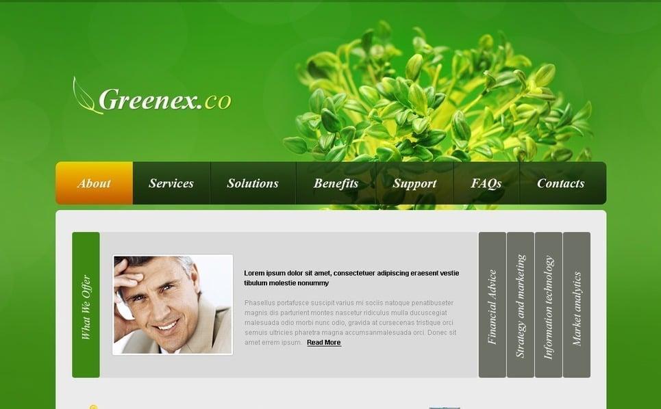 PSD шаблон №56361 на тему Бизнес и услуги New Screenshots BIG