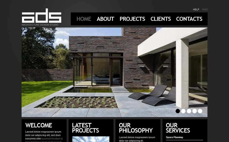 Szablon PSD #56362 na temat: architektura New Screenshots BIG