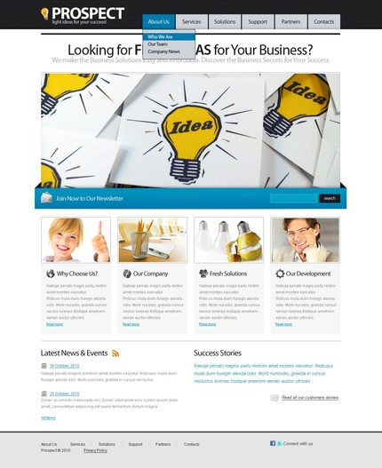 ADOBE Photoshop Template 56365 Home Page Screenshot