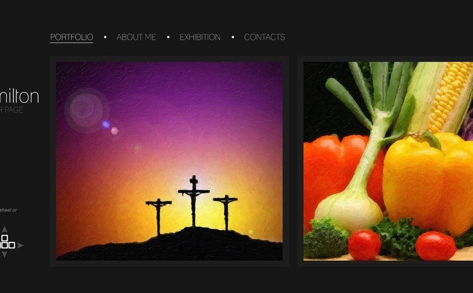 Művészi portfóliók PSD sablon New Screenshots BIG