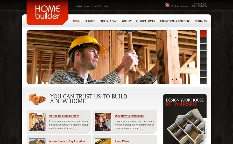 Plantilla PSD #56372 para Sitio de Empresa de construcción New Screenshots BIG