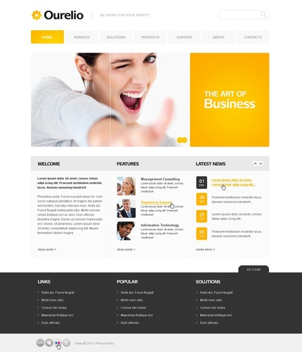 ADOBE Photoshop Template 56378 Home Page Screenshot