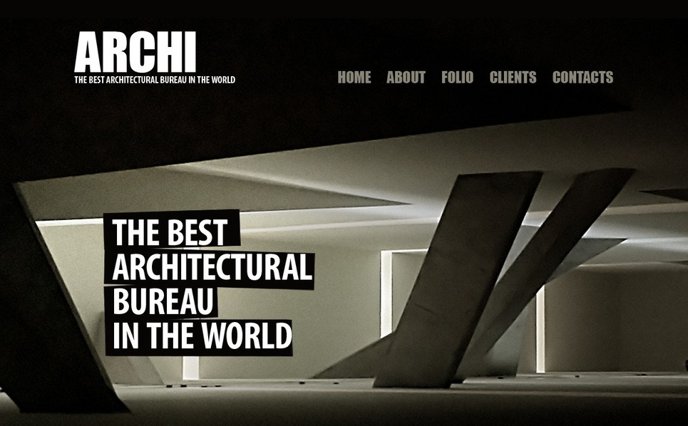 Szablon PSD #56385 na temat: architektura New Screenshots BIG