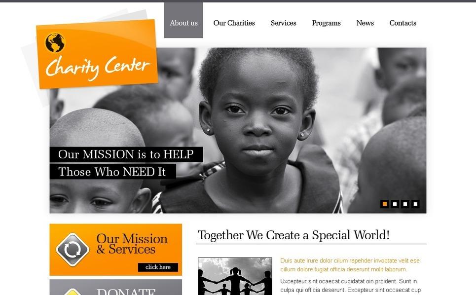 Plantilla PSD #56386 para Sitio de Caridad New Screenshots BIG