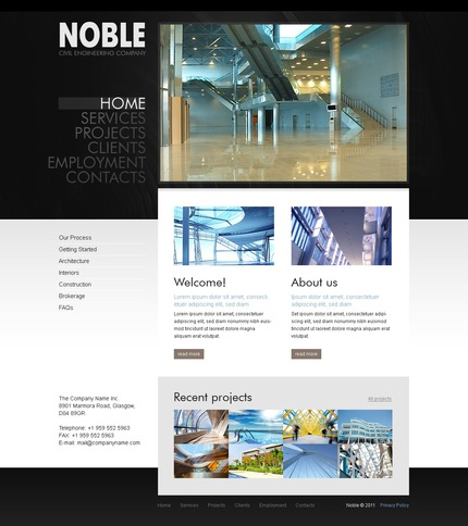 ADOBE Photoshop Template 56387 Home Page Screenshot