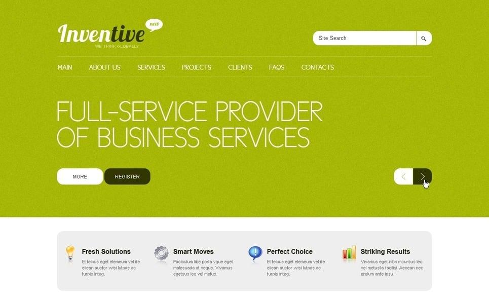 Template Photoshop  para Sites de Business & Services №56397 New Screenshots BIG