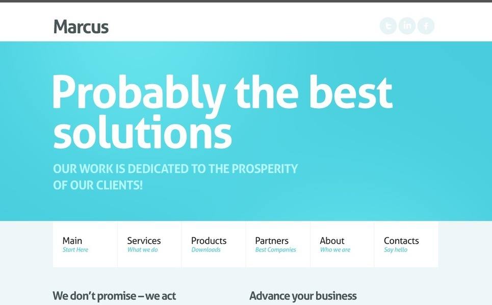 Plantilla PSD #56399 para Sitio de Negocio y Servicios New Screenshots BIG