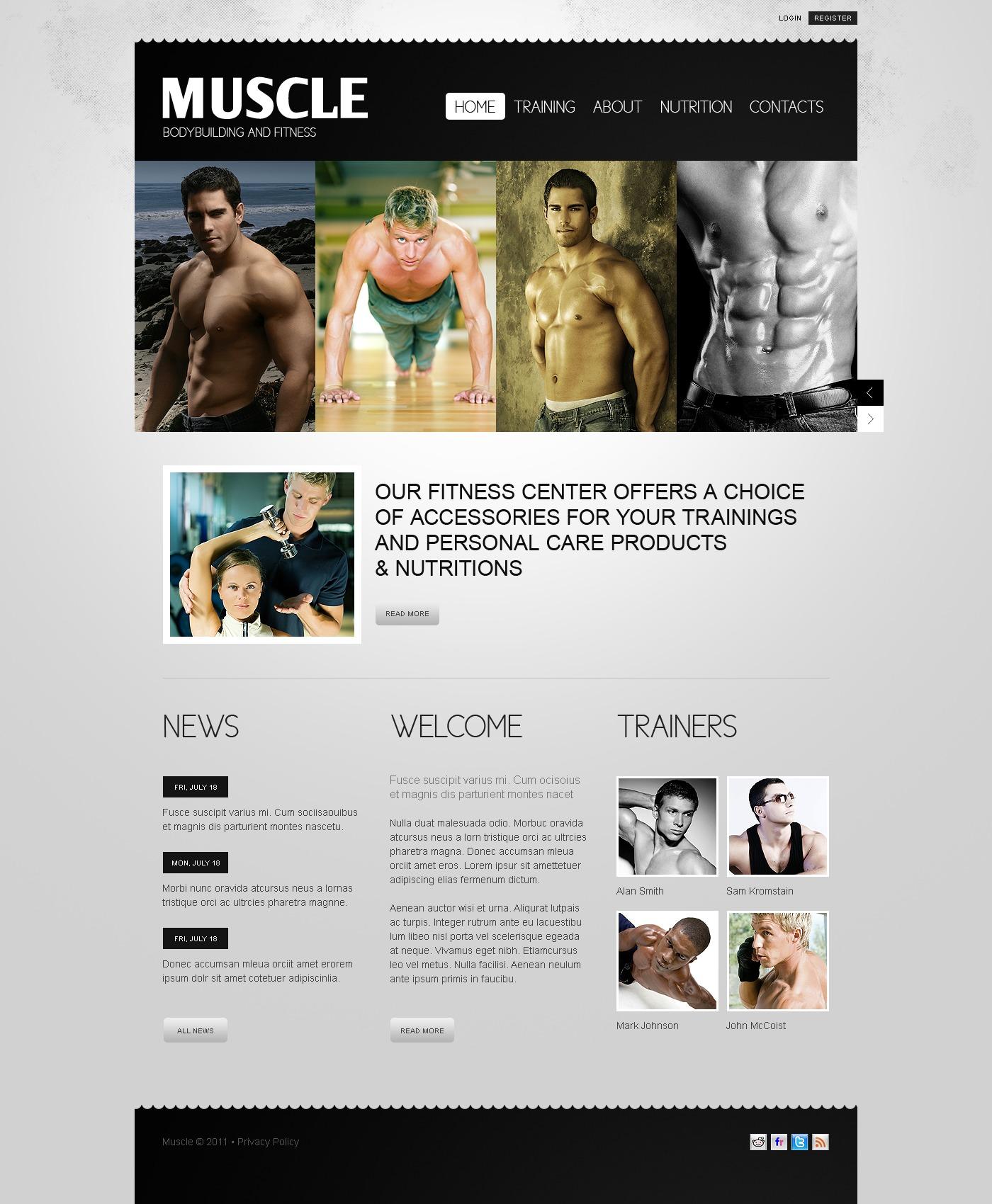 Bodybuilding Templates | TemplateMonster