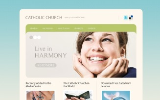 Catholic Church PSD Template