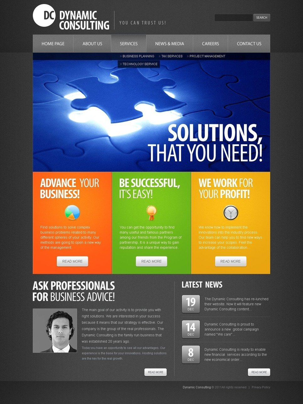 Consulting PSD Template New Screenshots BIG