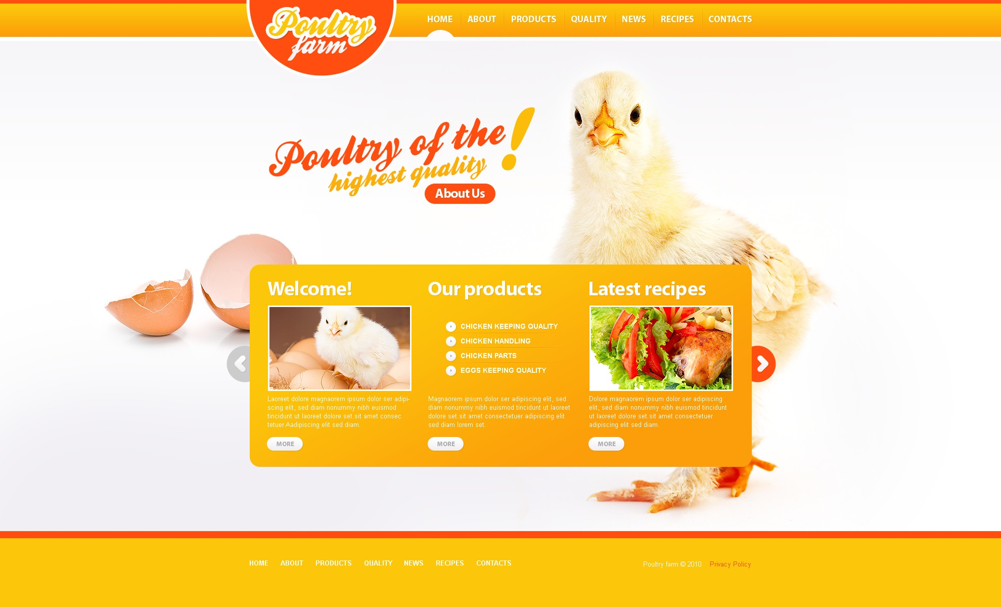 Poultry Farm PSD Template