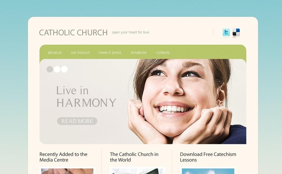 PSD шаблон №56394 на тему католическая церковь New Screenshots BIG