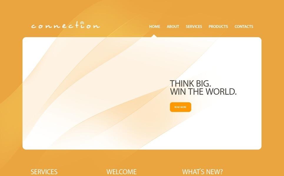PSD šablona Komunikace New Screenshots BIG