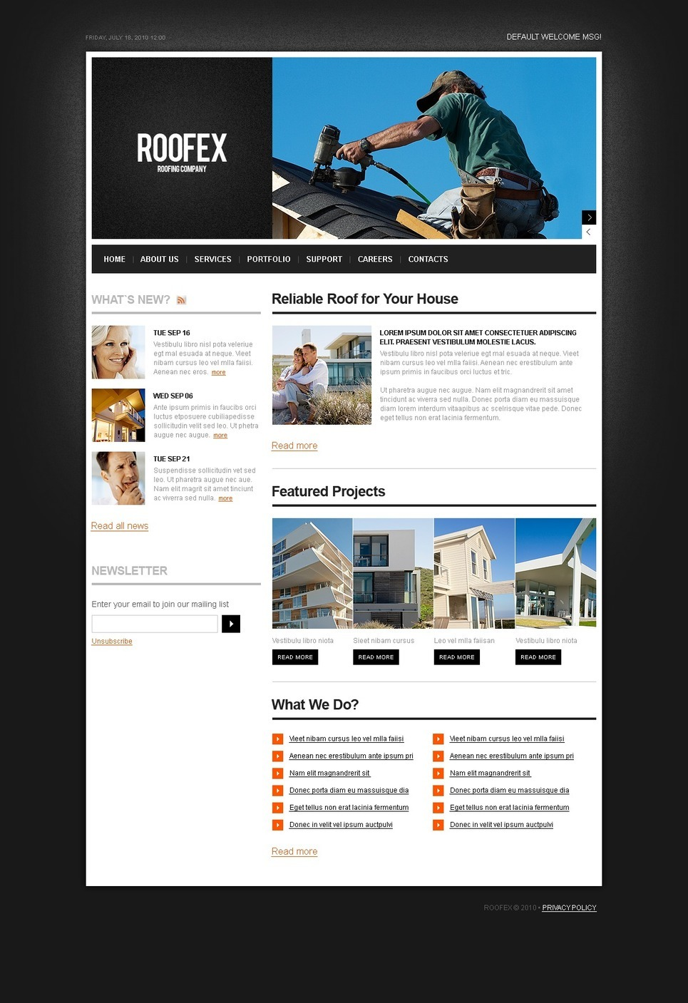 Roofing Company PSD Template New Screenshots BIG
