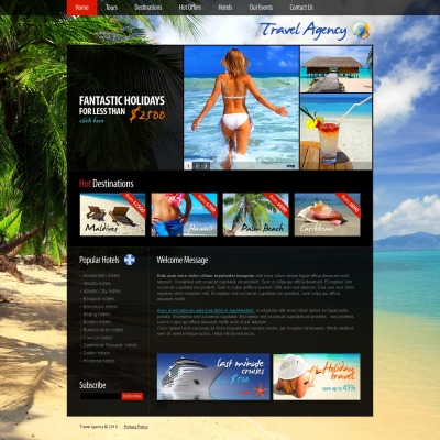 Travel agency psd templates pronofoot35fo Image collections