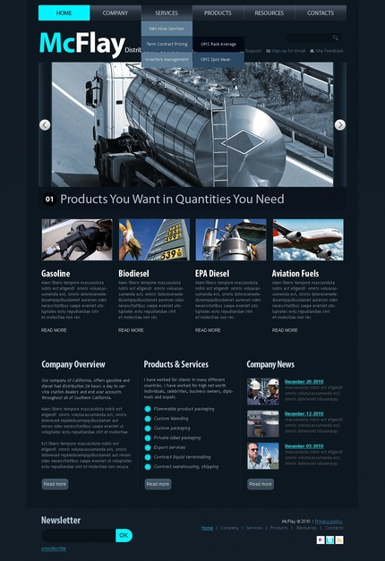 ADOBE Photoshop Template 56402 Home Page Screenshot