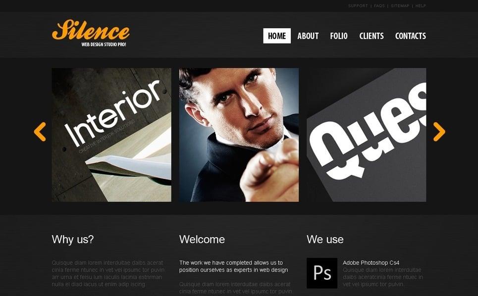 Szablon PSD #56404 na temat: web design New Screenshots BIG