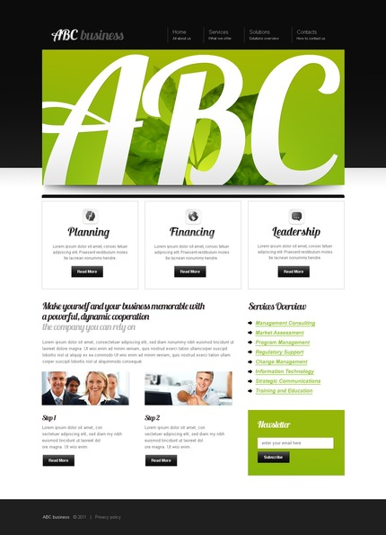 ADOBE Photoshop Template 56406 Home Page Screenshot