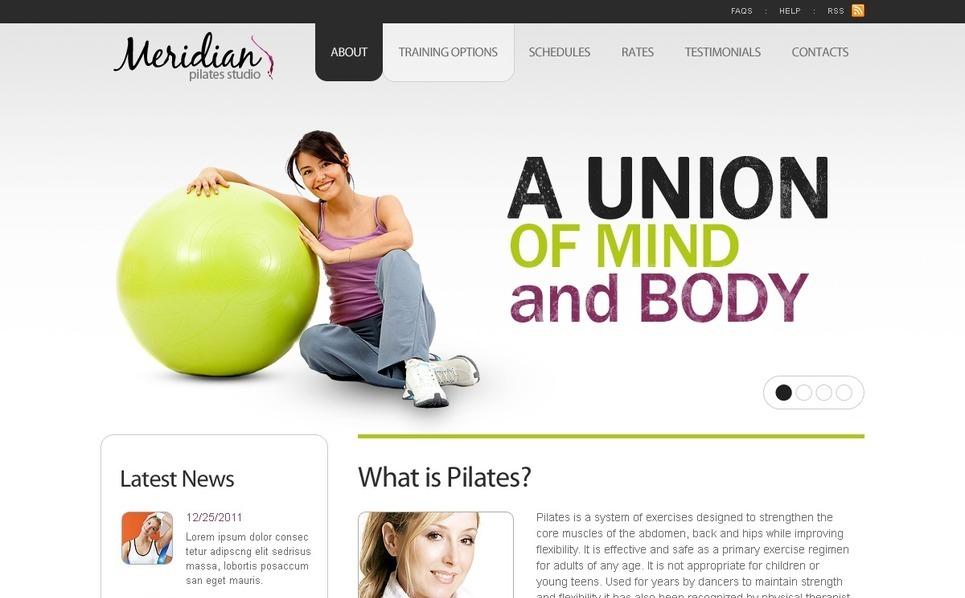 Template Photoshop  para Sites de Fitness №56410 New Screenshots BIG