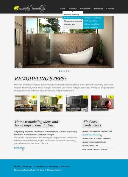ADOBE Photoshop Template 56412 Home Page Screenshot