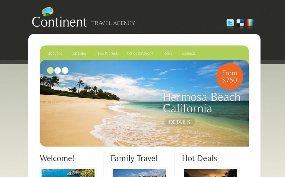Seyahat Firması  Psd Şablon New Screenshots BIG
