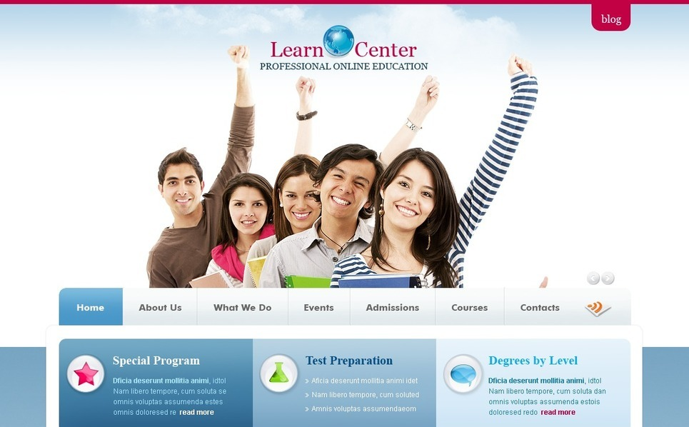 Plantilla PSD #56421 para Sitio de Educación New Screenshots BIG