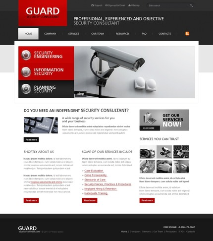 ADOBE Photoshop Template 56427 Home Page Screenshot
