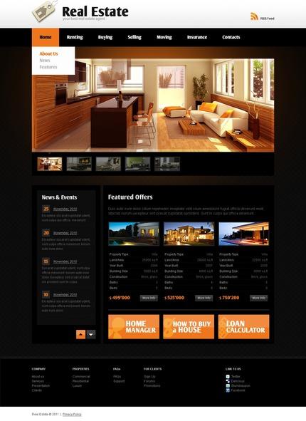 PSD макет сайта №56428