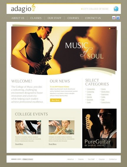 ADOBE Photoshop Template 56436 Home Page Screenshot