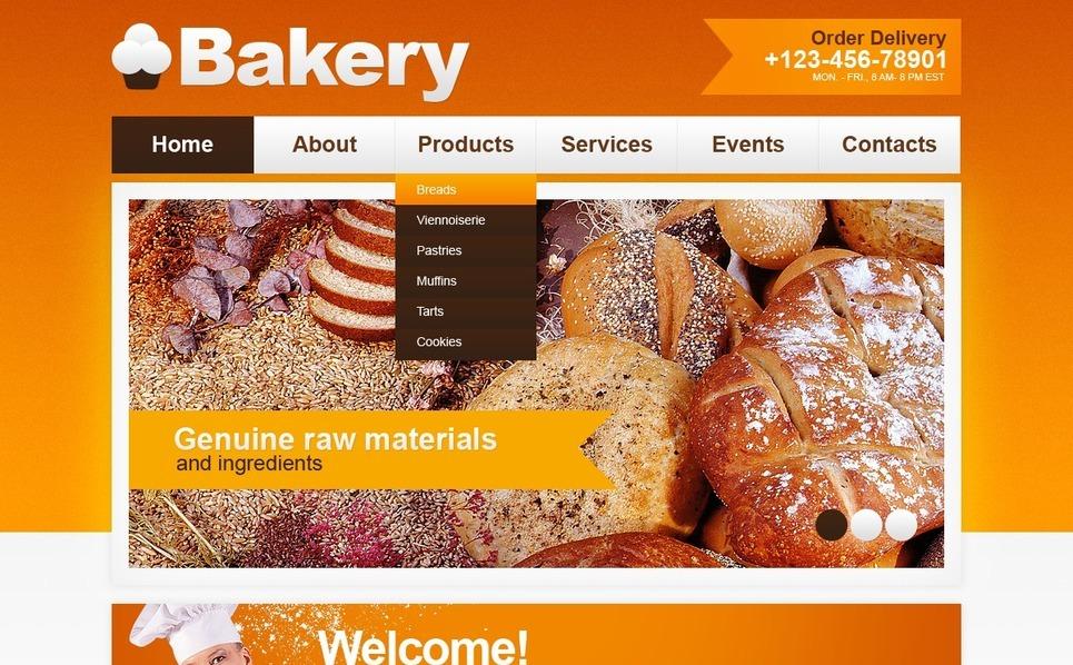 PSD Vorlage für Bäckerei  New Screenshots BIG