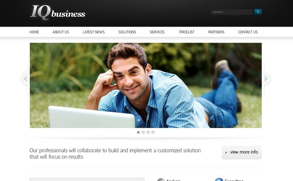 Szablon PSD #56441 na temat: biznes i usługi New Screenshots BIG