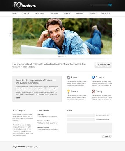 ADOBE Photoshop Template 56441 Home Page Screenshot
