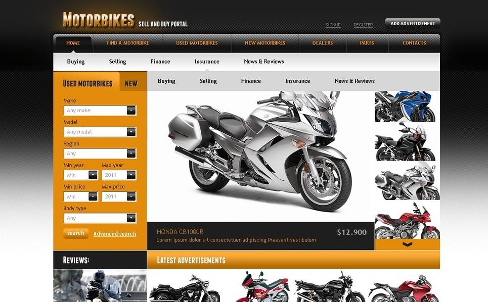Szablon PSD #56446 na temat: sklep rowerowy New Screenshots BIG