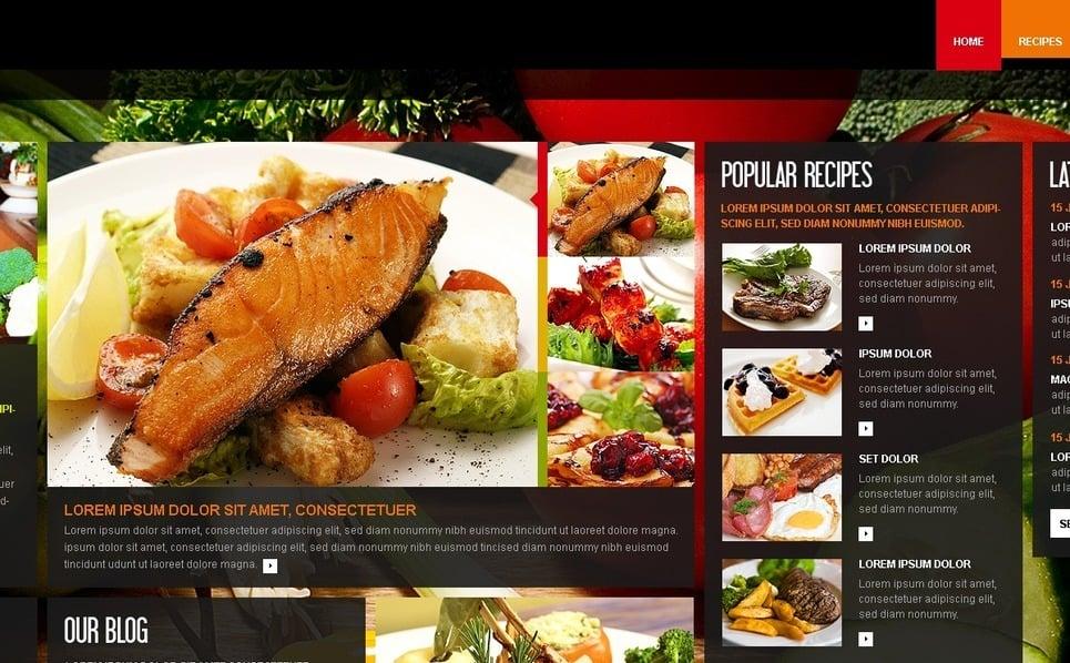 Modèle PSD  pour sites de cuisine New Screenshots BIG