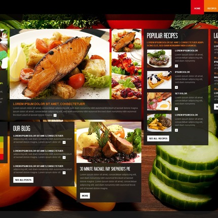 ADOBE Photoshop Template 56448 Home Page Screenshot