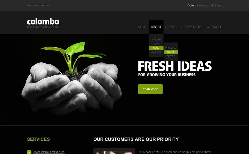 Szablon PSD #56452 na temat: biznes i usługi New Screenshots BIG