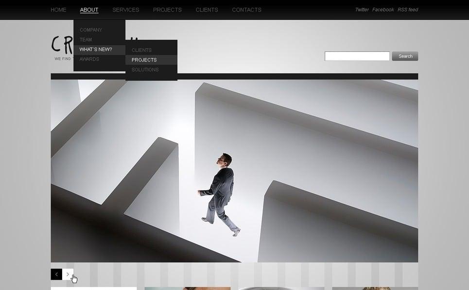 PSD шаблон №56457 на тему Бизнес и услуги New Screenshots BIG