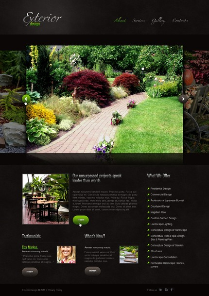 ADOBE Photoshop Template 56459 Home Page Screenshot