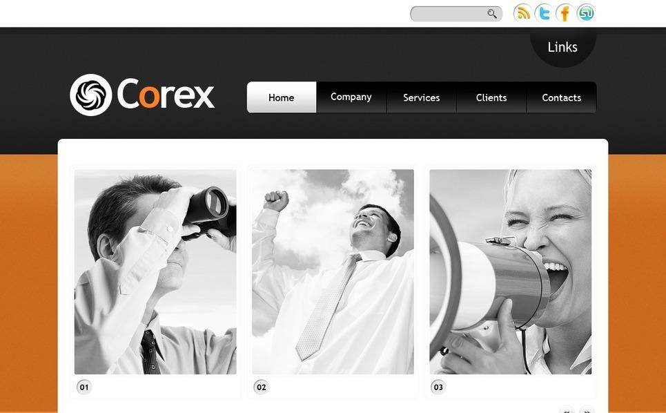 Template Photoshop  para Sites de Business & Services №56460 New Screenshots BIG