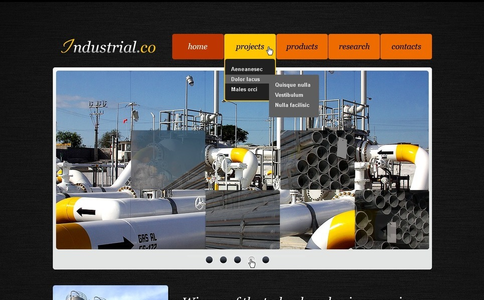 Plantilla PSD #56461 para Sitio de Industria New Screenshots BIG