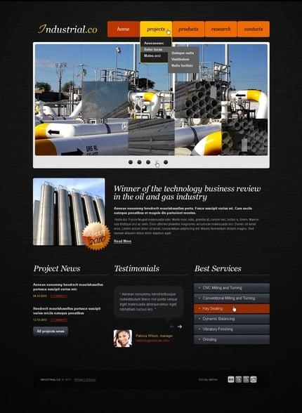 PSD макет сайта №56461