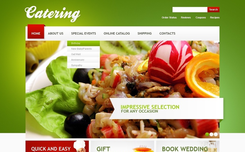Plantilla PSD #56470 para Sitio de Catering New Screenshots BIG