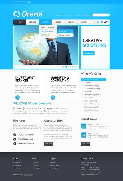 ADOBE Photoshop Template 56471 Home Page Screenshot