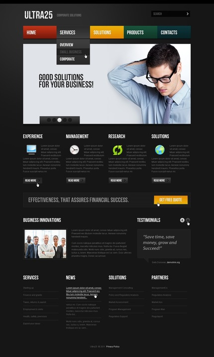 ADOBE Photoshop Template 56474 Home Page Screenshot