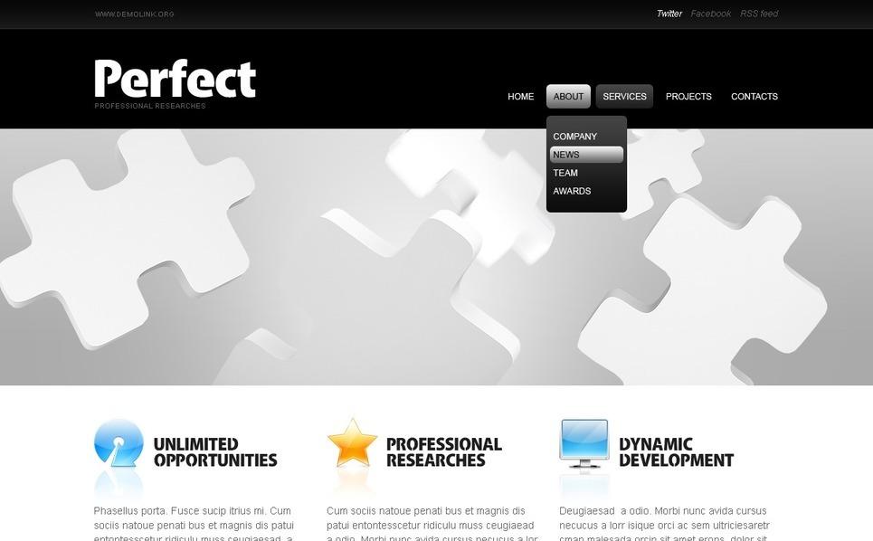 Plantilla PSD #56475 para Sitio de Negocio y Servicios New Screenshots BIG