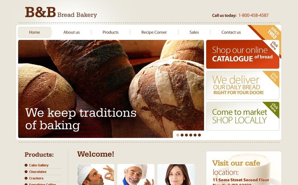 Plantilla PSD #56484 para Sitio de Panadería New Screenshots BIG